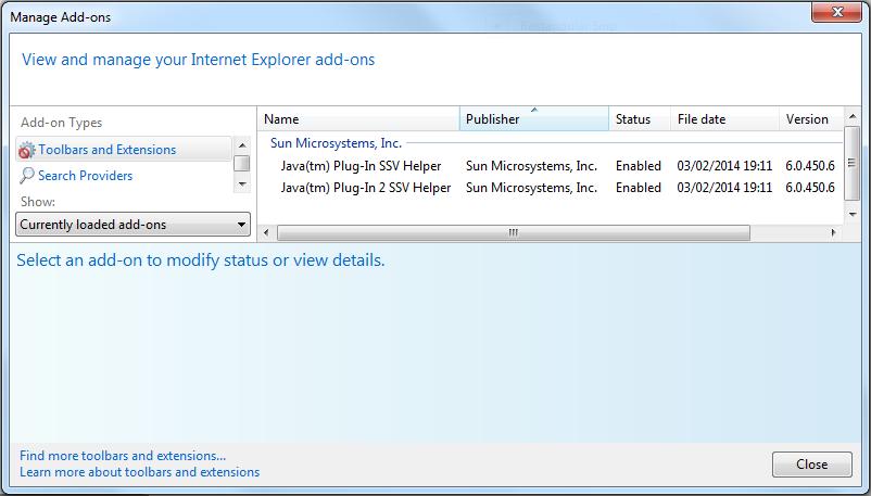 Java 6 SSV Helper Add-on