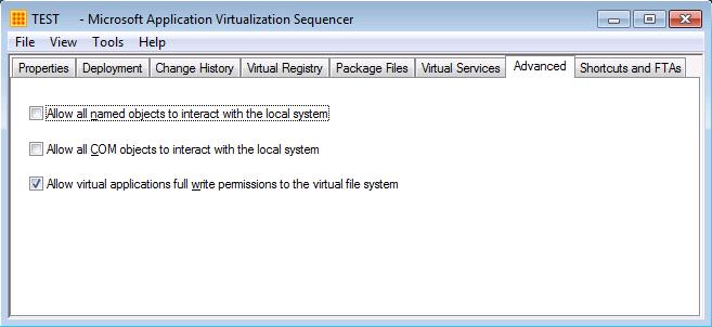 App-V 5.0 SP2 HF4 Sequencer