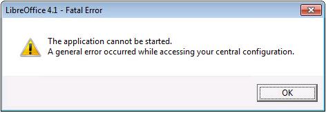 LibreOfficeError